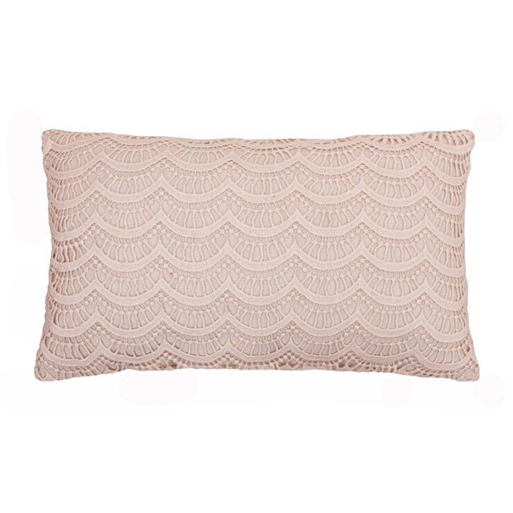 Ivory Lace Throw Pillow : Branwen Lace Ivory Pillow 12x20-in - At Home