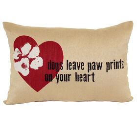 Paw Prints Pillow 13.5x20-in