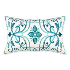 Georgina Pillow - Turquoise, 13 x 20-in.