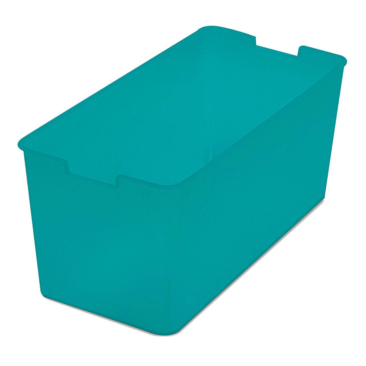 Quarter bin storage bin teal at home for Teal bathroom bin