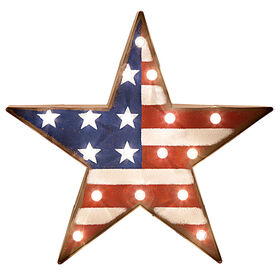 18-in. Metal Marquee Flag Star