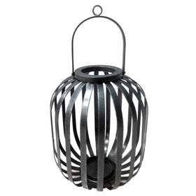 Picture of Silver Flat Iron Lantern- 15-in