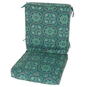 Alden Teal Deep Patio Cushion Seat- 2-Piece