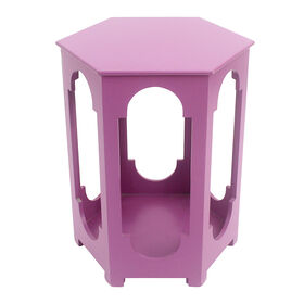 Picture of Pink Moroccan Night Stand Table - 20in