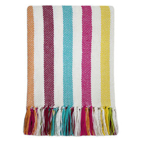 Cotton Stripe Throw 48 X 58-in