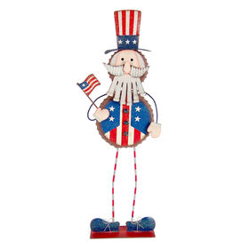 Patriotic Metal Uncle Sam- 23-in