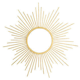 20-in Gold Sunburst Mirror
