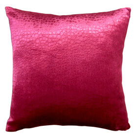 Crocodile Print Pink Pillow - 18 in.