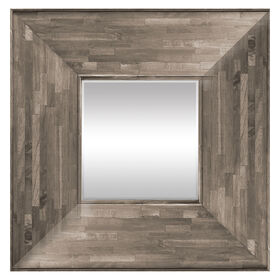 Jamjuree Light Gray Square Mirror- 28 x 28-in