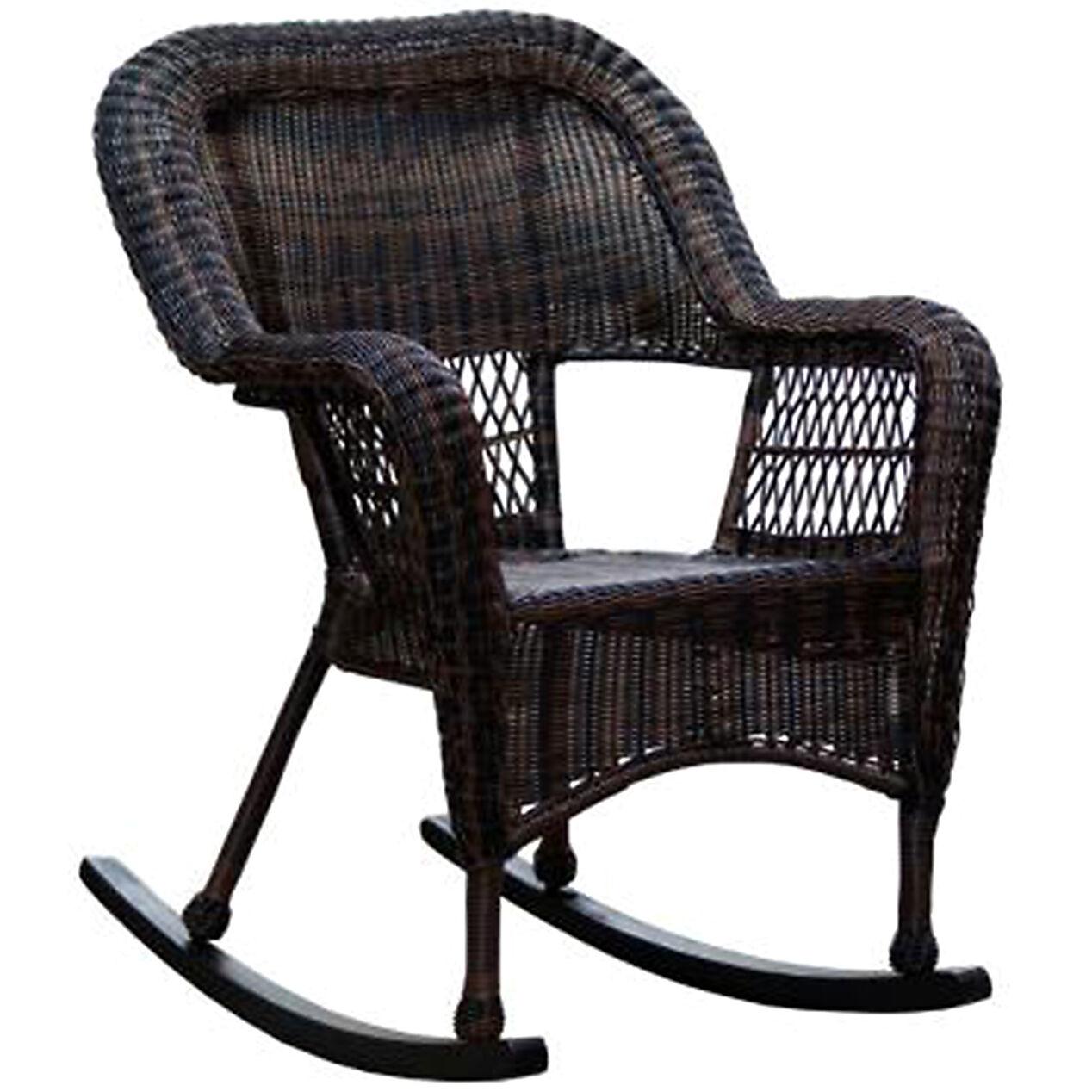 Ikea outdoor rocking chair - Dark Brown Wicker Outdoor Patio Rocking Chair At Home