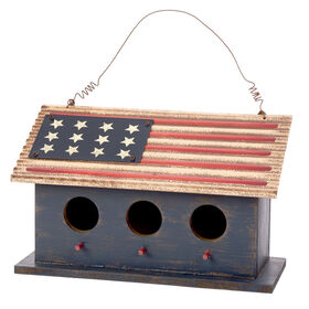Patriotic Wood Flag Birdhouse