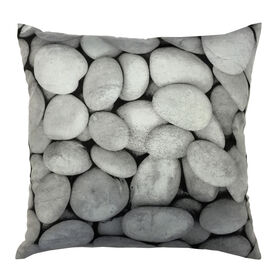 Picture of Pebbles Gray Decorative Pillow- 18-in