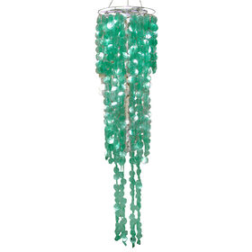 Picture of Turquoise Capiz Round Wind Chime- 50-in