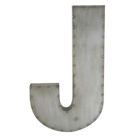 Picture of Galvanized Nailhead Letter 29-in