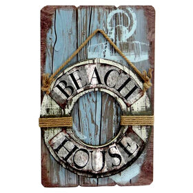Picture of Wooden Beach House Wall Decor- 23-in