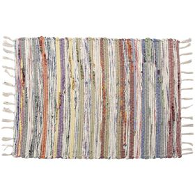 Pastel Multi Chindi Accent Rug 20 X 30-in