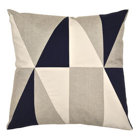 Navy, Gary, and White Diamond Patch Pillow - 20 in.