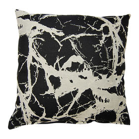 Glacier Pillow- Black 23-in