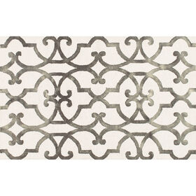 Space Dyed Ivory Patterned Rug 8 X 10 Ft