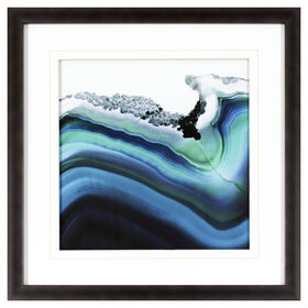 Agate Indigo Wave Wall Art- 18 x 18