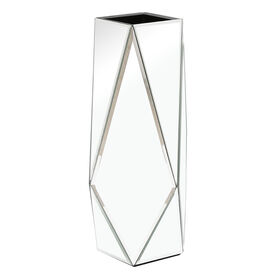 Picture of Geometric Beveled Mirror Vase, 16-in.