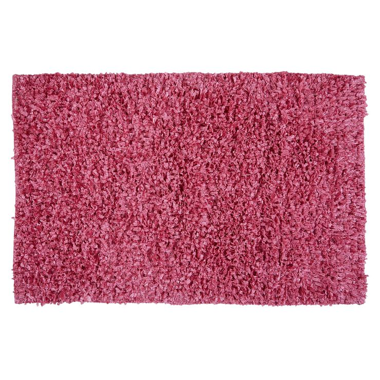 Pink Shiny Fur Shag Rug 3 X 5 Ft