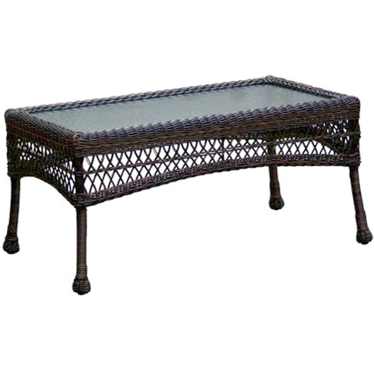 Dark Brown Wicker Coffee Table At Home
