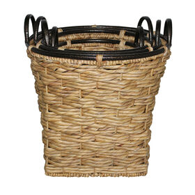 Small Round Basket with Iron Handles