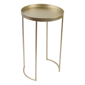 Gold Nested Tray-Top Table 26-in