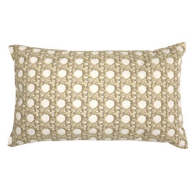 Picture of Brook Natural Embroidered Pillow- 13 x 22-in