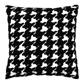 Houndstooth Pillow - Black & White, 18-in.