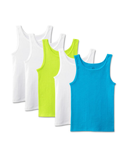 Girls' 5 Pack Assorted Tank Assorted Print and Color