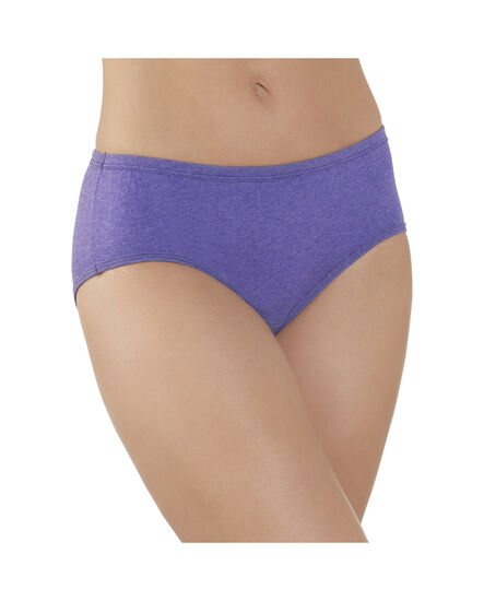 Women's 6 Pack Comfort Covered Waistband Hipster Assorted