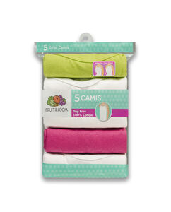 Fruit of the Loom Girls' 5-pack Assorted, Wear me Two Ways Cami