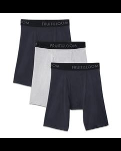 Men's 3 Pack Breathable Long Leg Boxer Brief