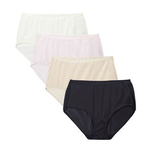 Fit for Me by Fruit of the Loom Women's 4 Pack Nylon Assorted Brief