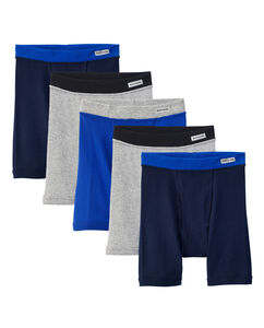 Boys' 5 Pack Covered Waistband Boxer Brief