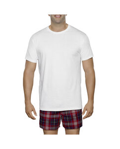 Men's 3 Pack Big Man White Crew