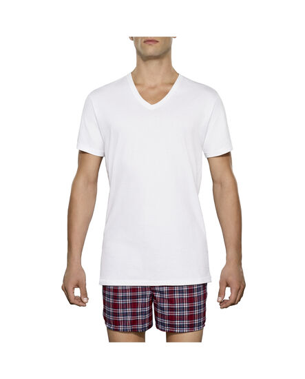 Men's 3 Pack Tall Man V- Neck White