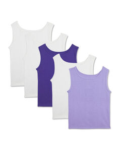 Toddler Girls' 5 Pack Assorted Tank