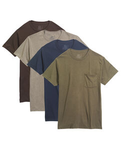 Men's 4 Pack Assorted Pocket T-Shirt Sizes