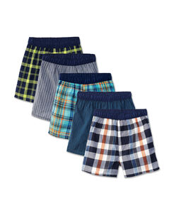 Boys' 5 Pack Covered Waistband Boxer