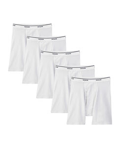 Men's 5 Pack Classic White Boxer Briefs