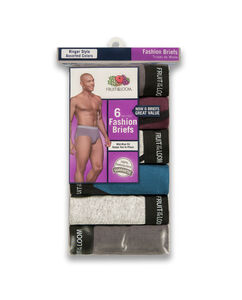 Men's 6 Pack Ringer Fashion Briefs
