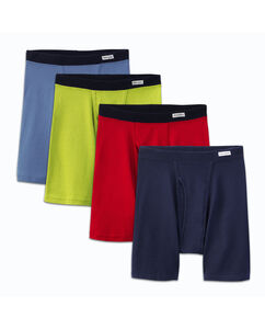 Men's 4 Pack Soft Covered Waistband Boxer Briefs Extended Sizes