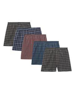 Men's 5 Pack Tartan Boxers Extended Sizes