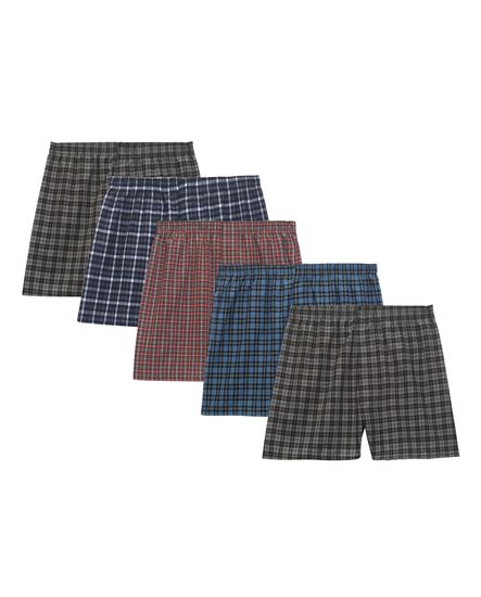 Men's 5 Pack Tartan Boxers Extended Sizes
