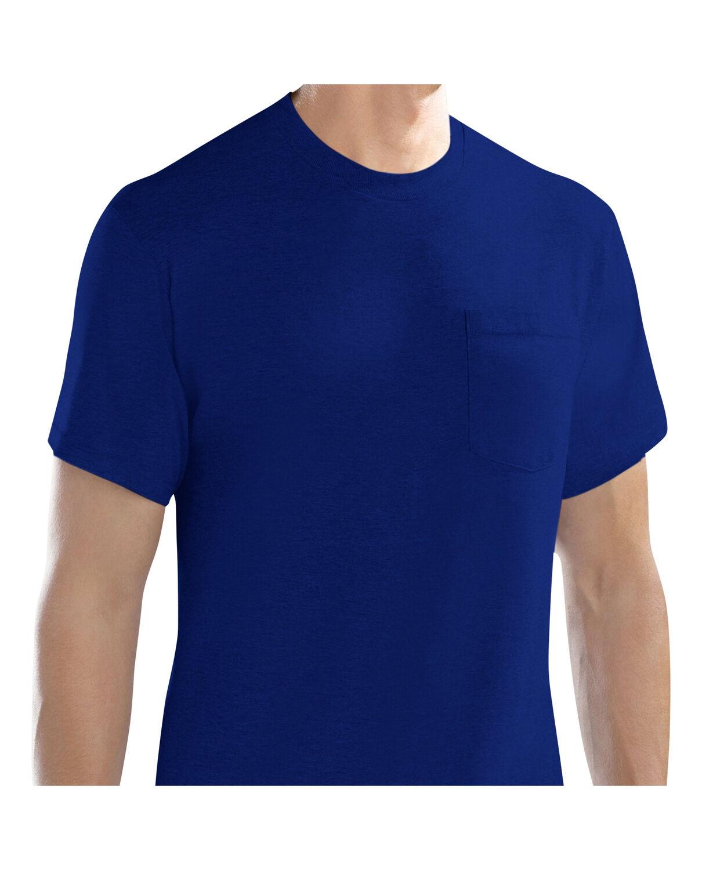 Men 39 s 4 pack assorted pocket t shirt fruit us for Boys pocket t shirt