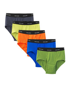 Men's 5  Pack Stripes / Solids Fashion Briefs Extended Sizes