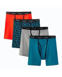 Men's 4 Pack Ringer Style Boxer Briefs Extended Sizes